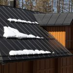 How to stop snow from sliding off metal roof