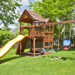 A child's playground that is weed free