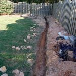 How to dig a trench for drainage