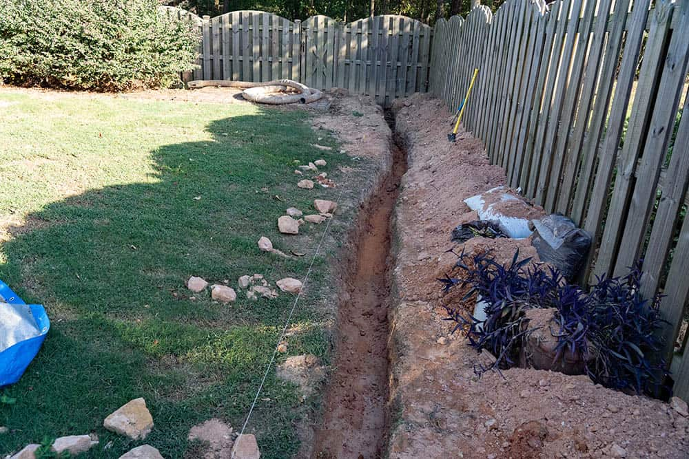 How To Dig A Trench For Drainage 10, Diy Garden Drainage Solutions