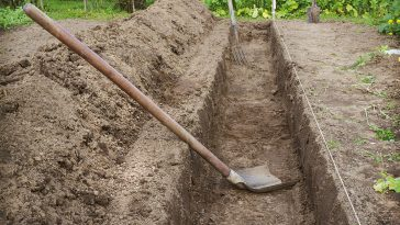 How to dig a trench by hand