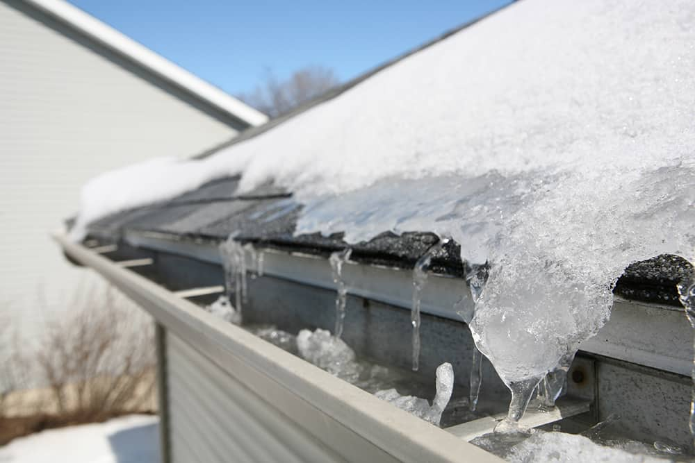 How to keep gutters from freezing in winter
