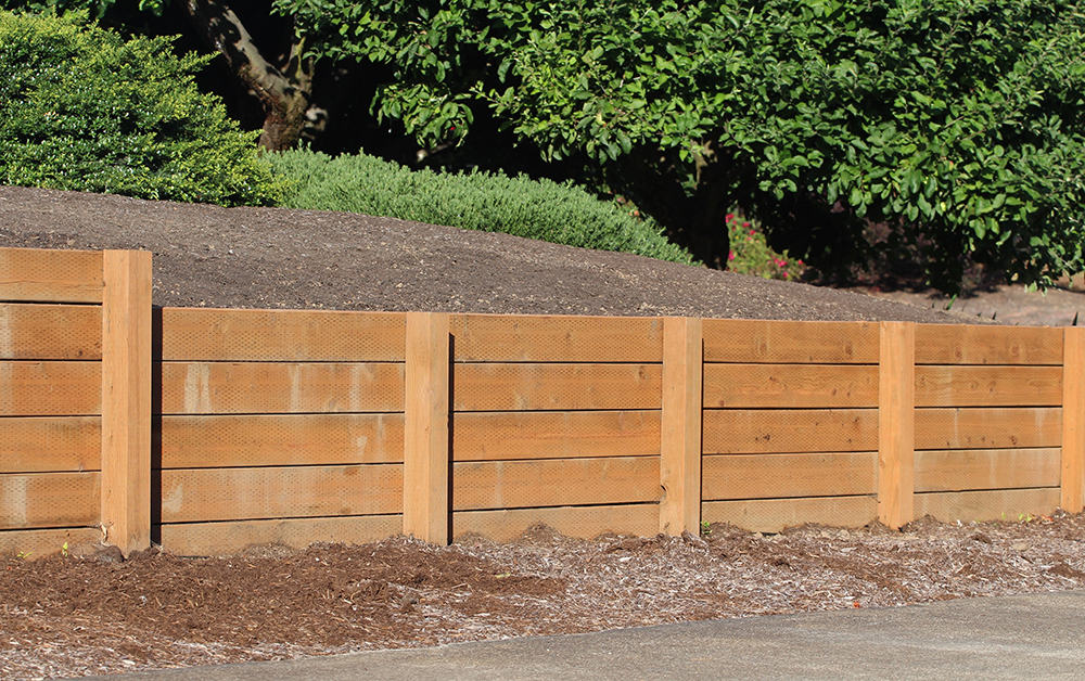 How to terrace a hillside with wood