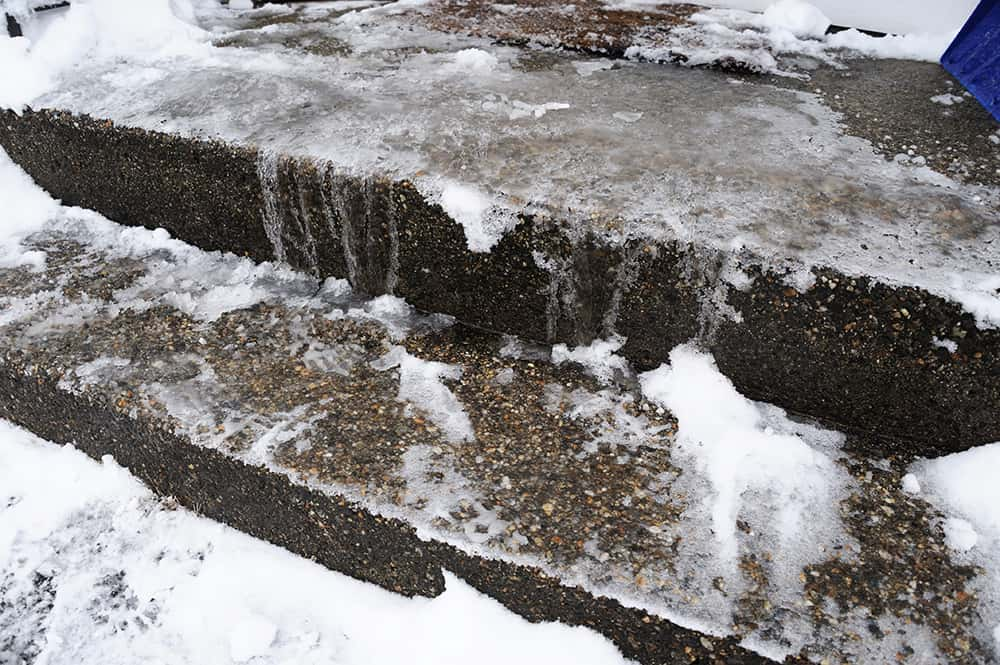 What to put on outside steps to prevent slipping