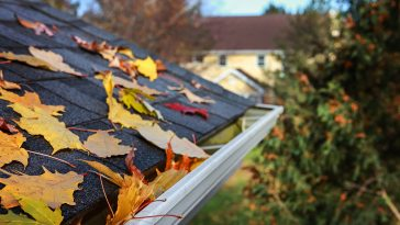 How to blow leaves off roof