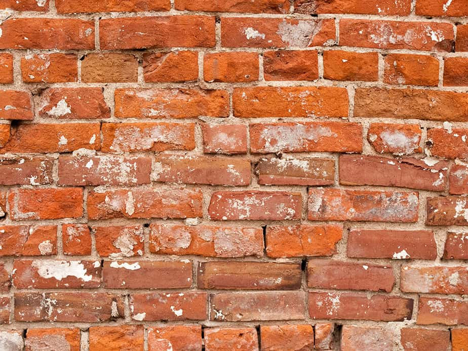 How to get paint splatter off brick