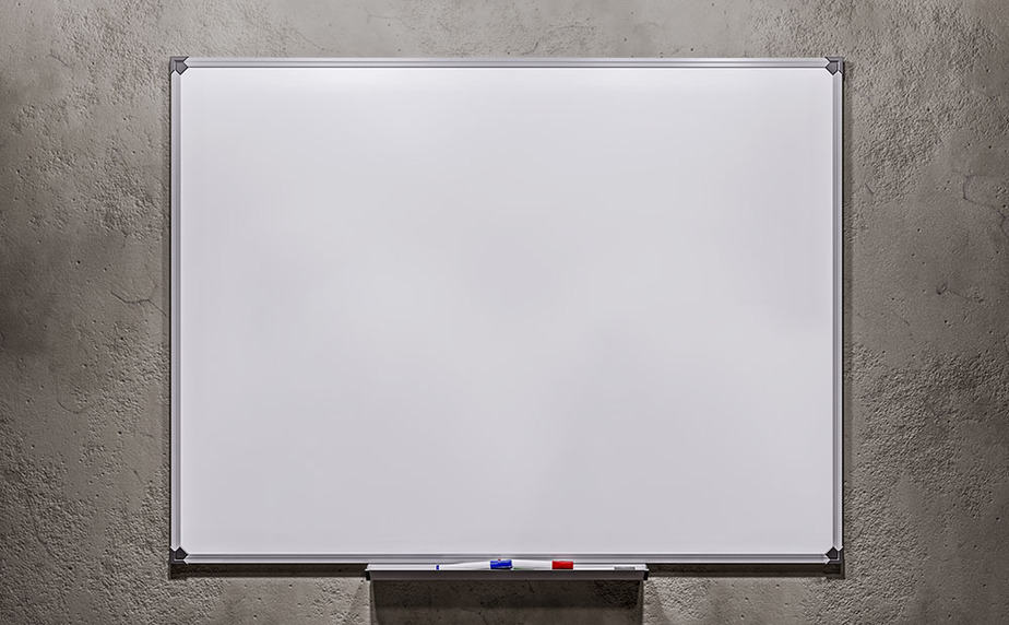 How to hang a whiteboard on a concrete wall