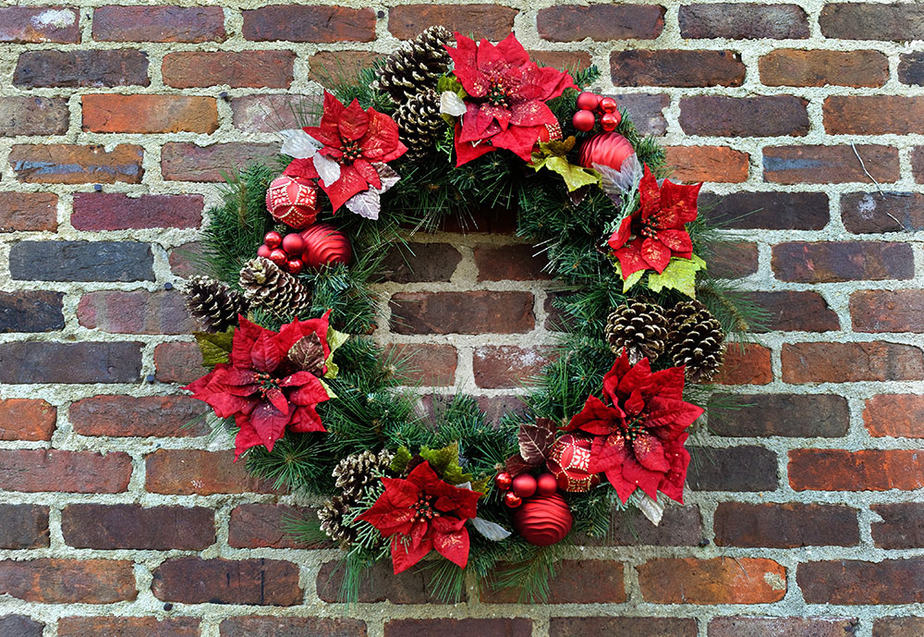 How to hang a wreath on brick