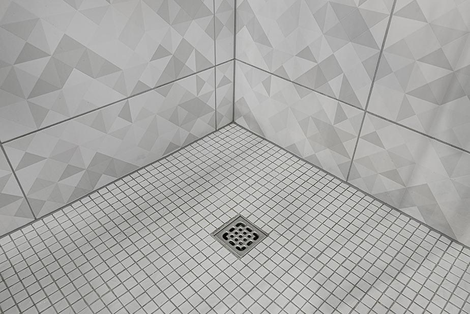 Shower corner caulk job