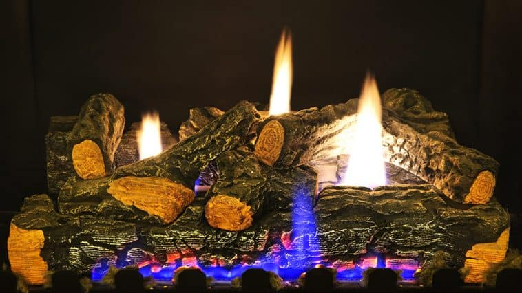 How to clean soot from gas logs