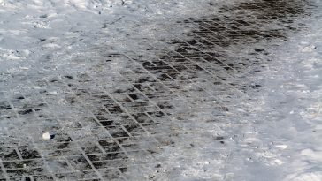How to get rid of thick ice on driveway