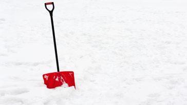 How to shovel frozen snow