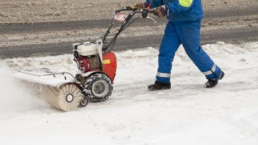 How to snowblow end of driveway