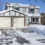 Keep snow from sticking to driveway